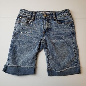 Bongo Denim Jeans Shorts Girls Sz 10 Blue